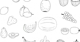 Рисунки карандашом фрукты (32 фото)