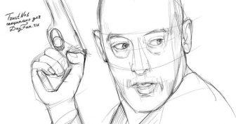 Рисунки карандашом Леон и Матильда (23 фото)