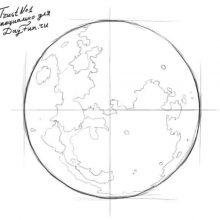 Рисунки карандашом Земля (20 фото)