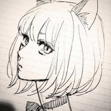 Рисунки для срисовки аниме девушки няшки (33 фото)