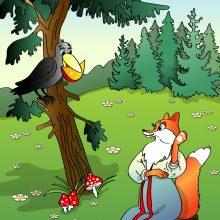 Рисунки карандашом «Ворона и лисица» (21 фото)