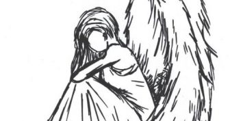 Рисунки крылья ангела для срисовки (33 фото)