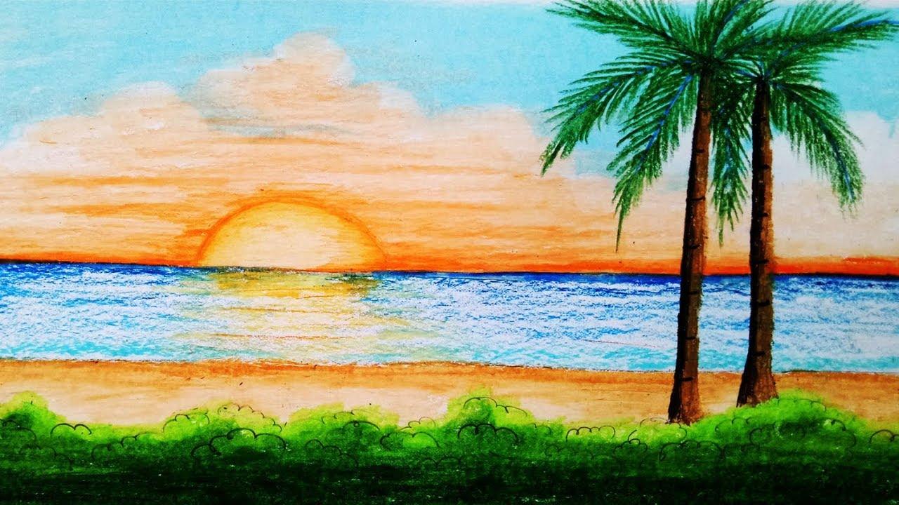 Летняя картинка как нарисовать