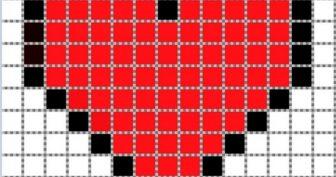 Рисунки по клеточкам черным карандашом (36 фото)