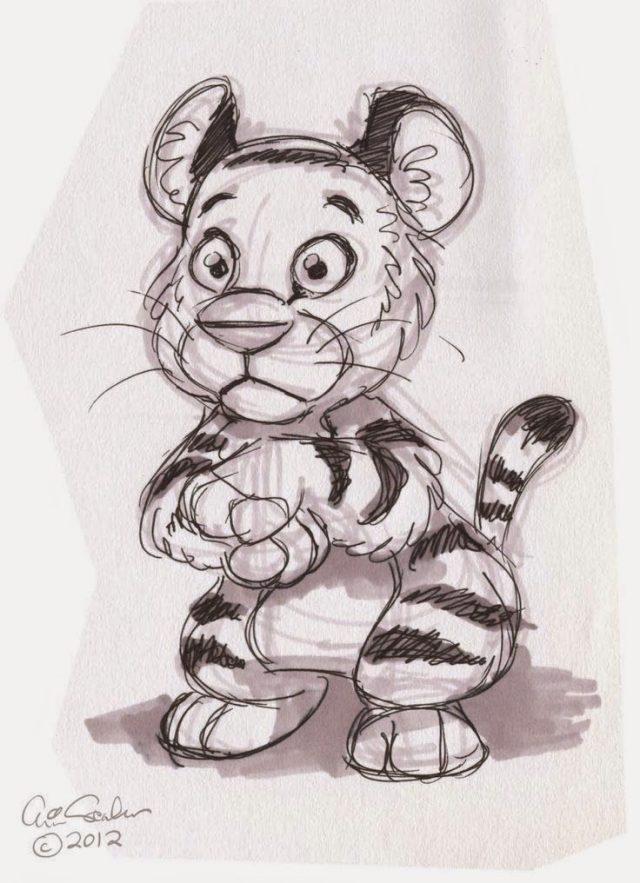 Прикольные рисунки с животными карандашом