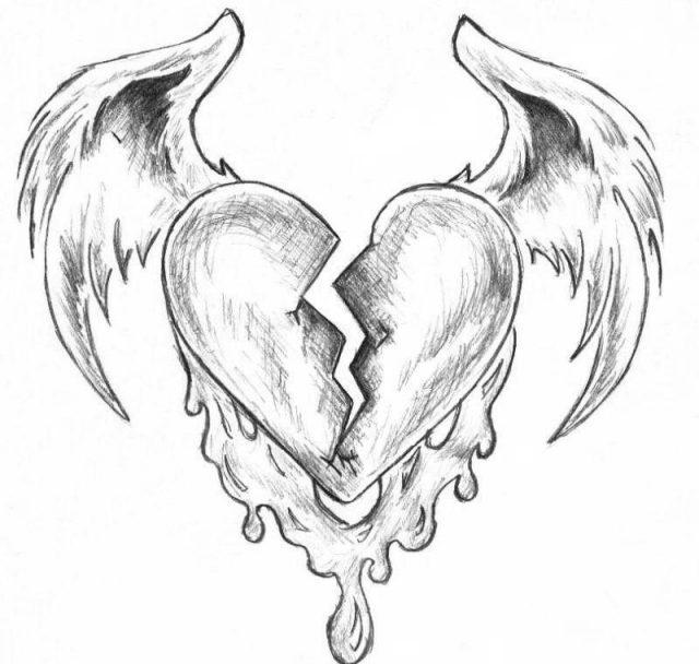 Картинки с сердцами карандашом