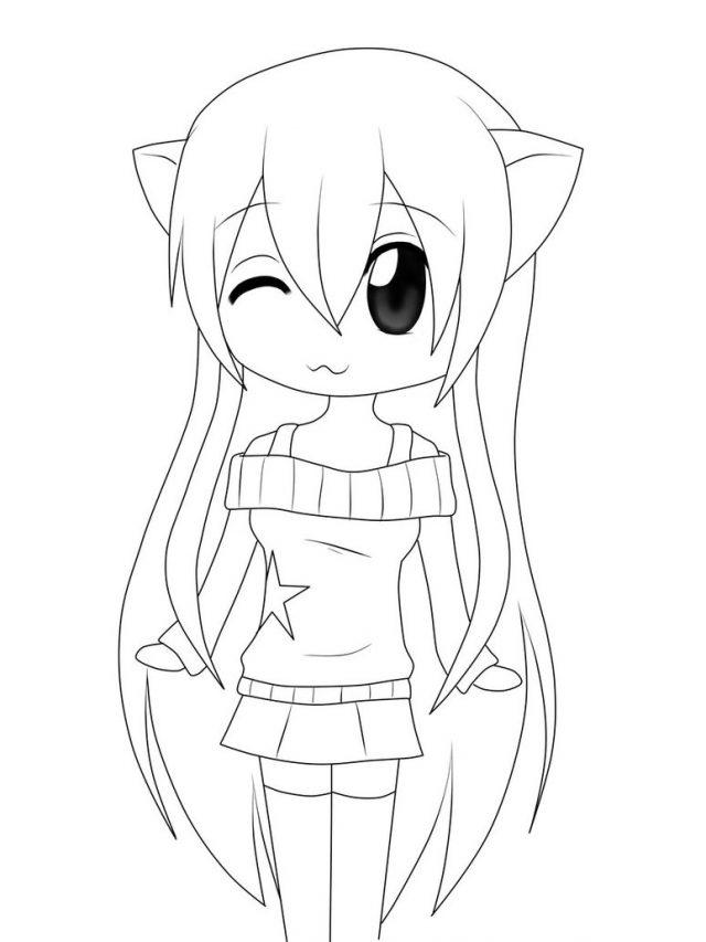 Картинки аниме девушек кошки карандашом