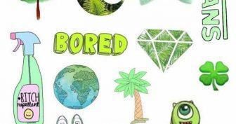 Зеленые рисунки для срисовки (30 фото)