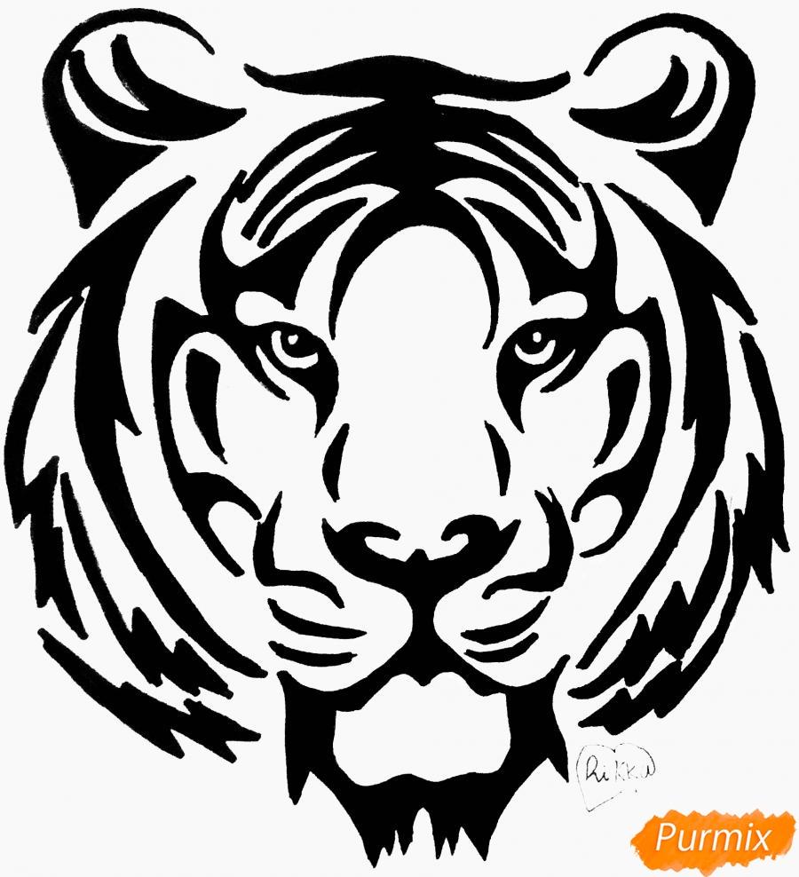 Картинки тигров трафарет