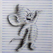 3Д рисунки по клеточкам в тетради карандашом (27 фото)