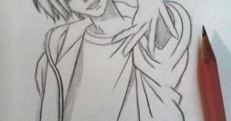 Рисунки карандашом для срисовки парни аниме (29 фото)