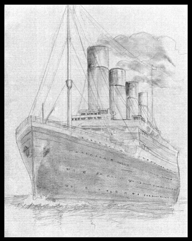 Картинки титаника корабля черно белые