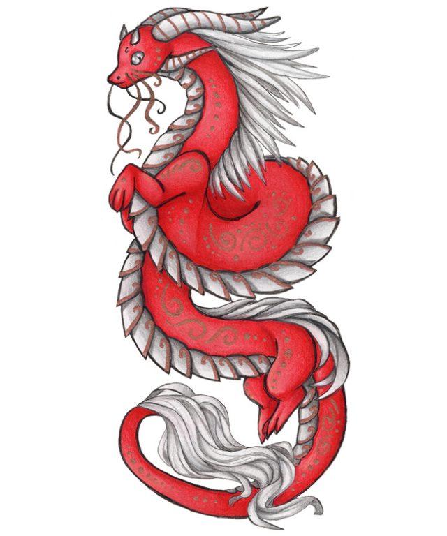 Картинки карандашом дракона китайского