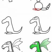 Рисунки дракона карандашом поэтапно для начинающих (33 фото)