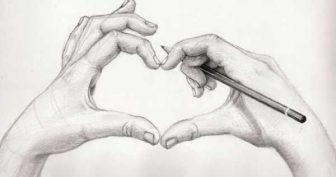 Рисунки карандашом для срисовки руки (30 фото)