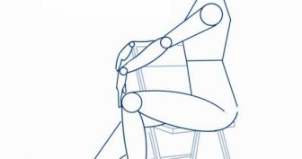 Рисунки карандашом сидящий человек (22 фото)