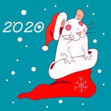 Поздравления с Новым 2020 годом Крысы (34 фото)