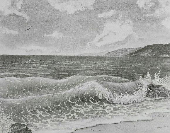берега черного моря картинки карандашом детям