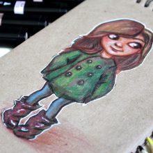 Рисунки на крафт бумаге цветными карандашами (30 фото)