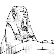 Рисунки Сфинкса карандашом (17 фото)