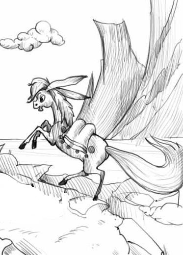 нарисовать рисунок карандашом конек горбунок пасьянс фараон подскажет