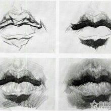 Рисунки губ карандашом поэтапно для начинающих (30 фото)