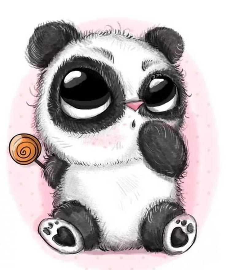 Няшные картинки панды для срисовки