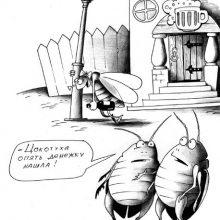 Рисунки карандашом карикатуры (26 фото)
