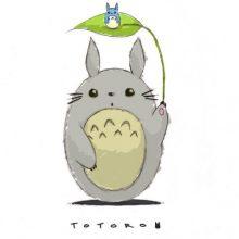 Рисунки Тоторо для срисовки (27 фото)