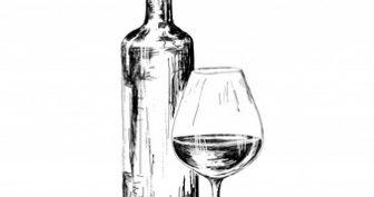 Рисунки карандашом бутылка вина (33 фото)