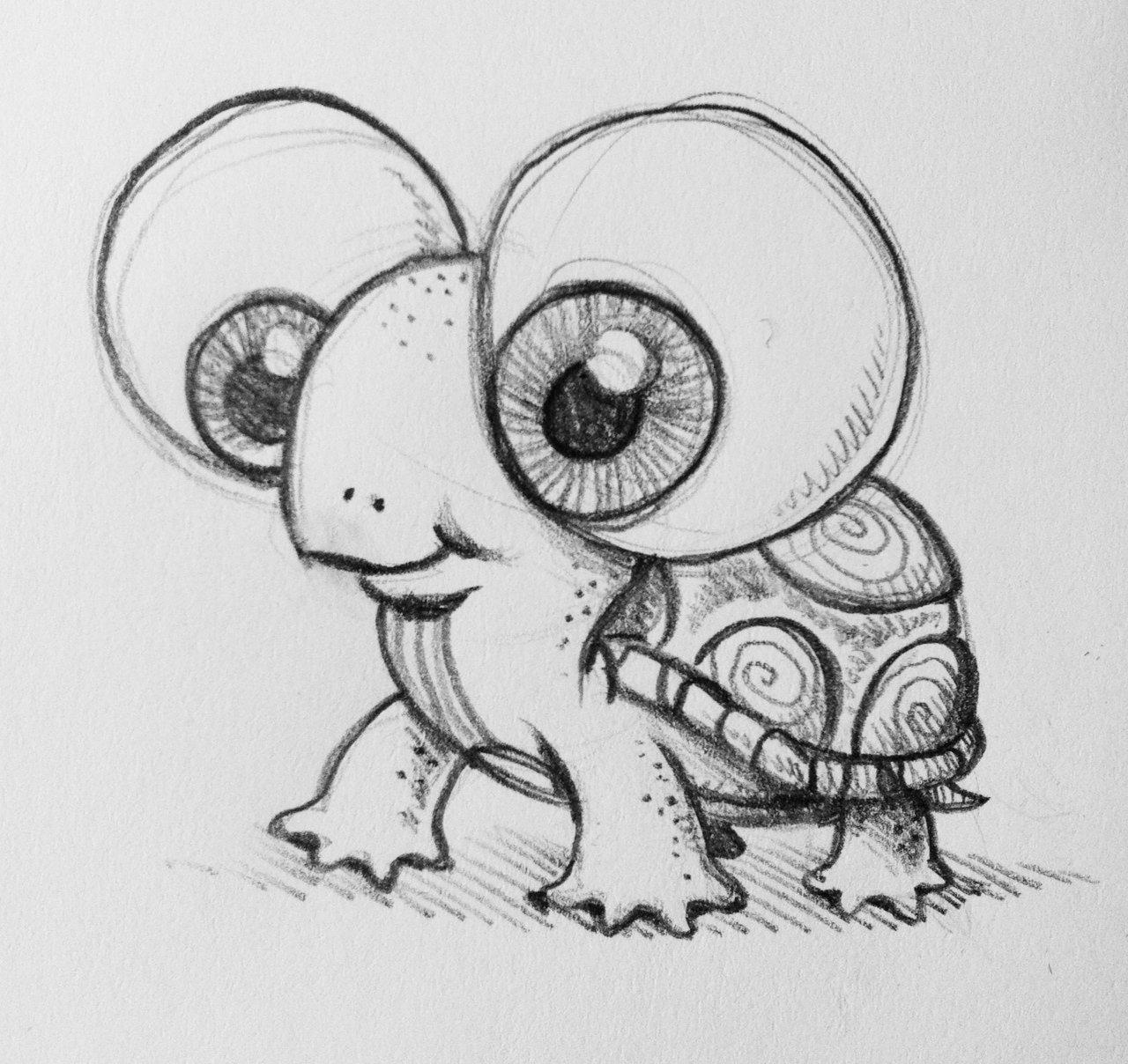 Легкие рисунки животные