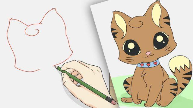 Рисунки животных с большими глазами (27 фото) 🔥 Прикольные ...