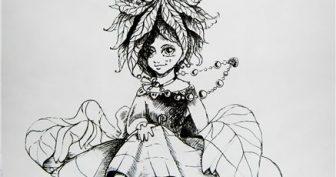Рисунки карандашом девочка с одуванчиком (26 фото)