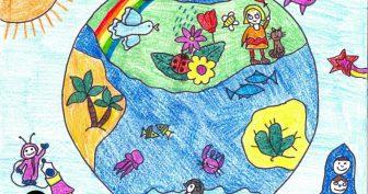 Детские рисунки цветными карандашами (30 фото)