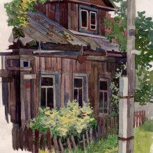 Рисунки цветными карандашами загородный пейзаж (27 фото)