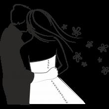 Рисунки карандашом жених и невеста (21 фото)