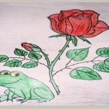 Рисунки карандашом сказка о «Жабе и розе» (15 фото)