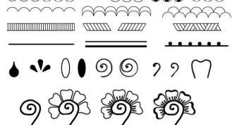 Рисунки для срисовки хной (32 фото)