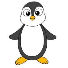 Рисунки пингвина карандашом для детей (34 фото)