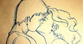 Рисунки карандашом мальчик и девочка целуются (29 фото)