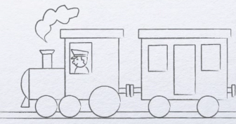 Рисунок карандашом для детей поезд (34 фото)
