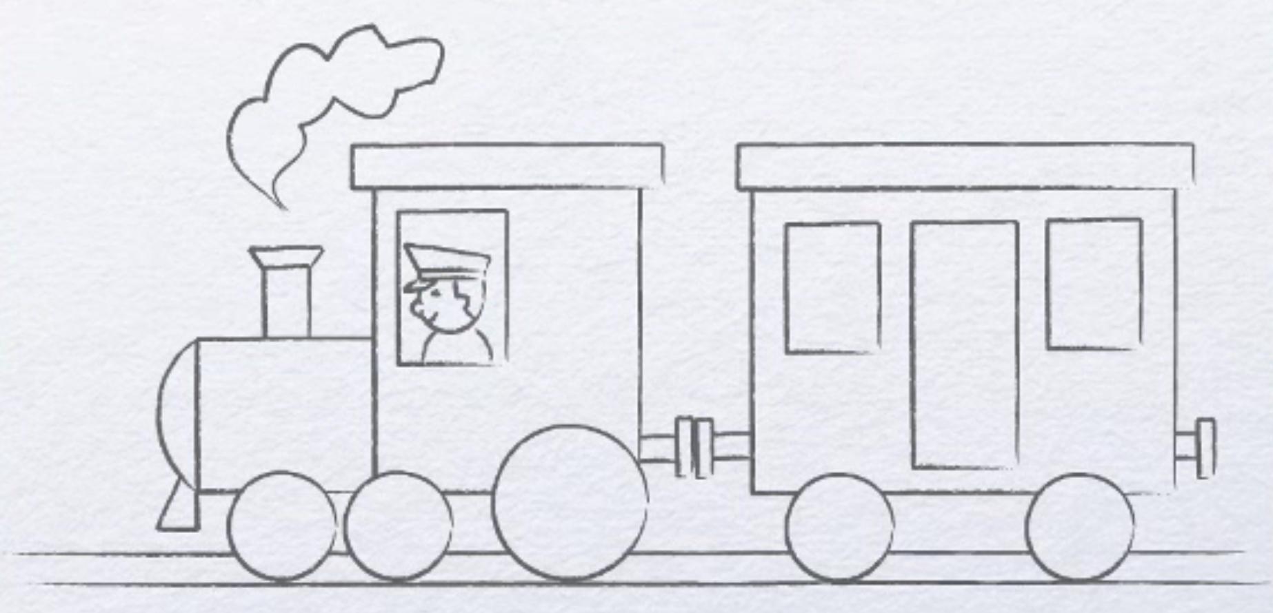 коллекция рисунок вагонов карандашом сети еще