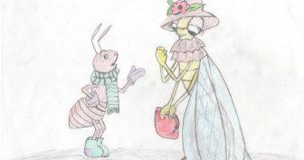 Рисунки «Стрекоза и муравей» карандашом (19 фото)
