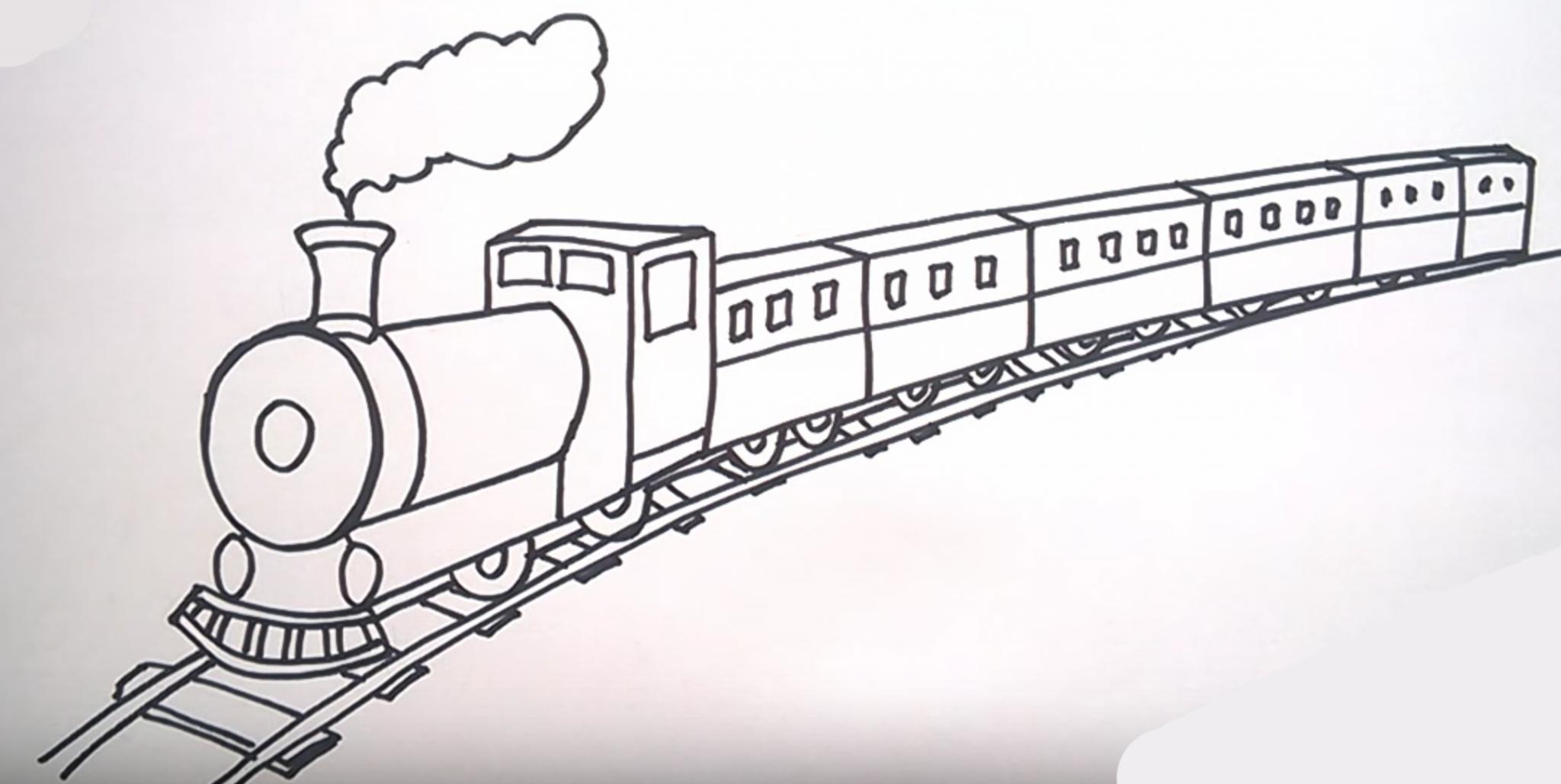 рисунок вагонов карандашом видом деятельности компании