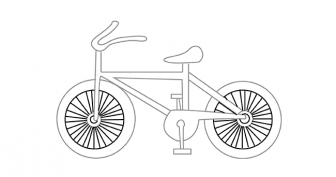 Рисунки карандашом для детей велосипед (24 фото)