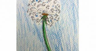 Рисунки одуванчика карандашом для детей (31 фото)