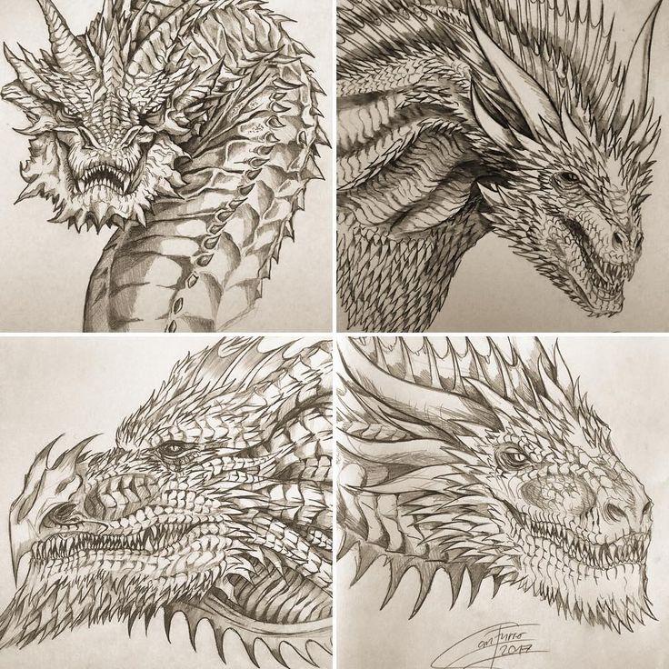 Рисунки карандашом дракона из игры престолов