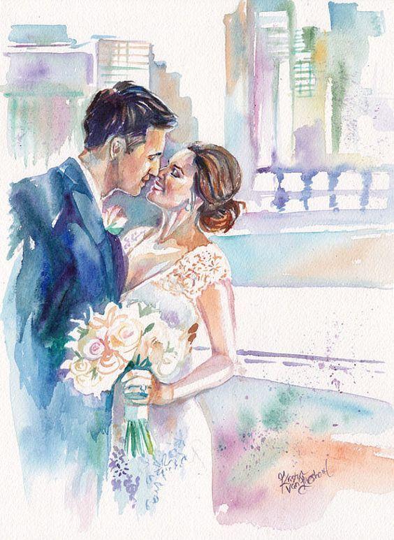 жених и невеста картинки акварелью того, что люди