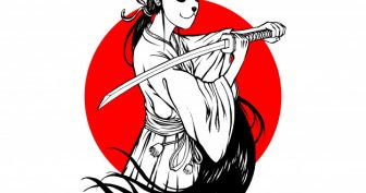 Рисунки карандашом девушка самурай (15 фото)