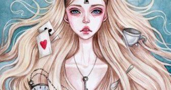 Рисунки для срисовки Алиса (30 фото)